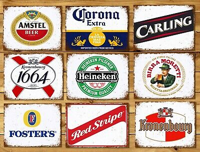 Metal signs plaques vintage retro style Beer bar pub mancave home wall decor