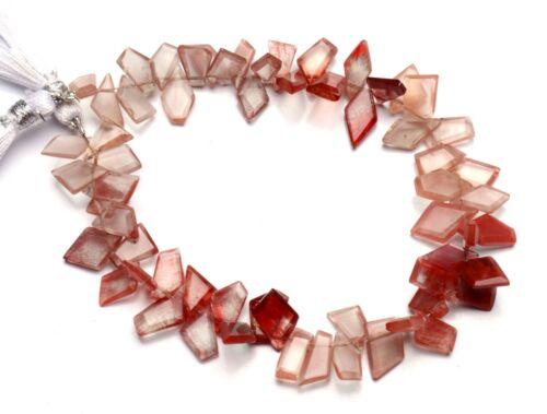 """Natural Gem Andesine Labradorite Faceted Slice Shape Beads 8.5"""" Strand 76Cts."""