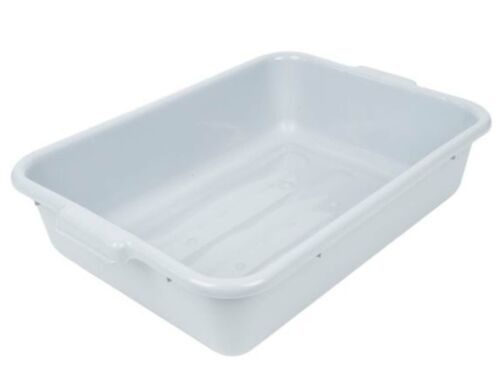 "(3/Pack) Polyethylene Plastic BUS TUB BOX DISH BUSSING 20"" x 15"" x 5"" Gray, NSF"