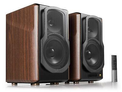 Edifier S2000MKIII Hi-Res Audio Active Bluetooth Bookshelf Speaker Set - Brown