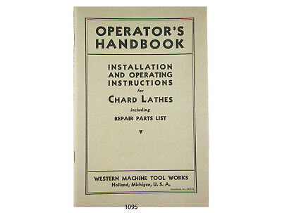 Preis Panto Engravers Operating and Parts List Manual for All Models #1247