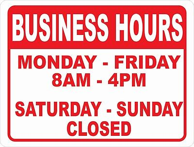 Open For Business Hours Of Operation Sign.size Options. Open Closed Times