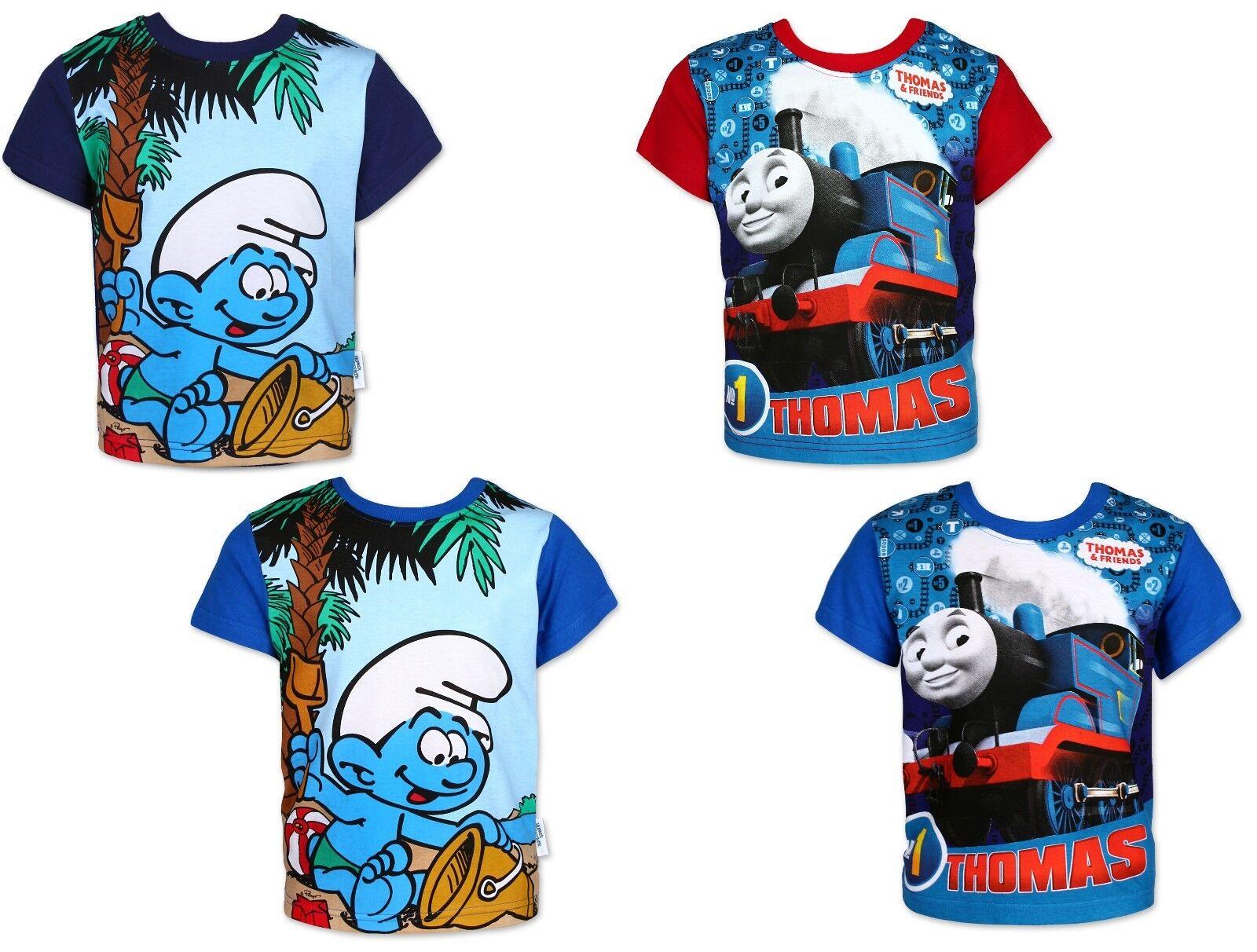 Thomas und seine Freunde Die Schlümpfe T-Shirt 92-116 kurzarm Junge Kinder Shirt