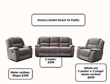Sofas,lounges,couches,recliners, Factory Outlet Direct To Public! Sefton Bankstown Area Preview