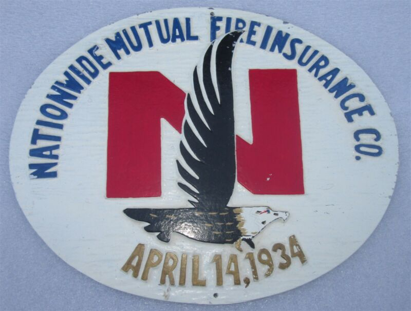 NATIONWIDE MUTUAL: Anniversary Fire Insurance Co Agency Plaque/Mark SIGN/MARKER