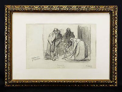 Pierre Georges JEANNIOT(1848-1934)Dessin original Genève suisse SWISS