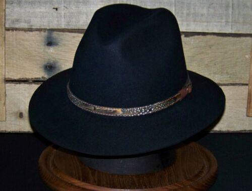 Stetson Weekender Fedora Hat (7 1/4 black)