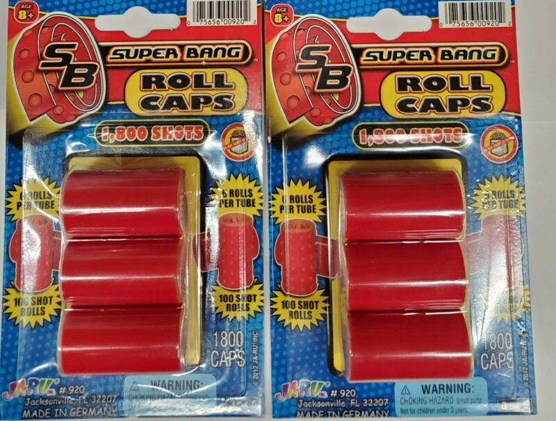 Lot of 2 Super Bang Cap Rolls 1800 Shots 3 Roll Pack x 2 = 3600  TOTAL SHOTS