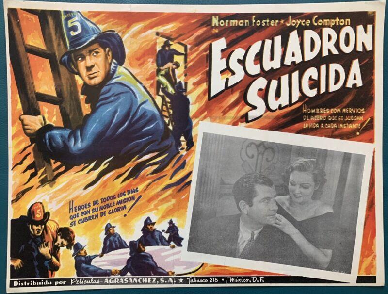 SUICIDE SQUAD Norman Foster Joyce Compton FIREMAN LOBBY CARD 1935
