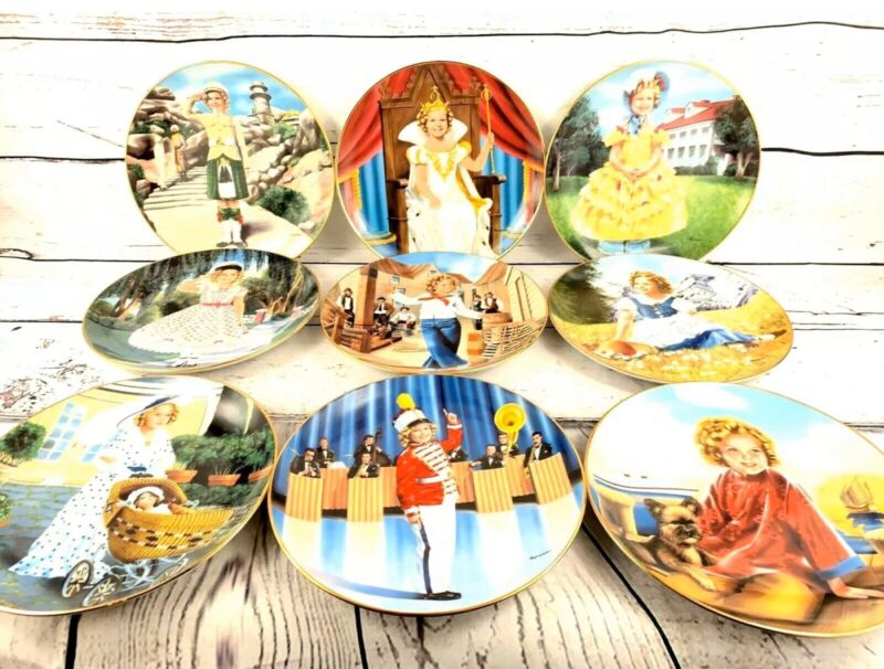 1990 Danbury Mint Shirley Temple Collection Collector Plates Set of 9