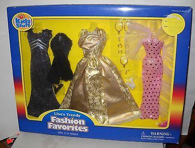 "#5529 NRFB Kid's Stuff Lisa's Trendy Fashions 11 1/2"" Doll Clothes Set"