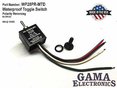 Waterproof Toggle Switch 3 Position Reverse Polarity Dc Motor Control Maintained