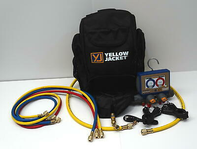 Yellow Jacket 40870 P51-870 Titan Digital Manifold Kit With Sensors And Hoses