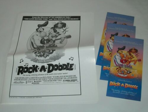 1992 ROCK a DOODLE  MOVIE PROMO PRESSBOOK PRESS BOOK ANIMATED DON BLUTH MUSIC