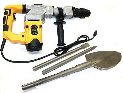 Electric Sds-max Hammer Drill 4000bpm 1300w Demolition Wshovel Chisel Bits