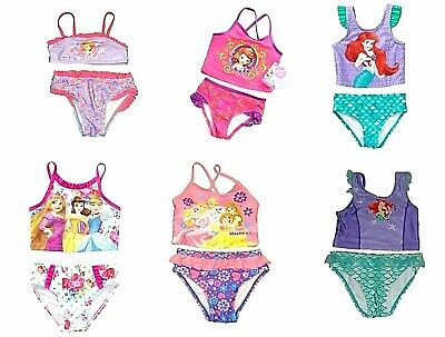 Girls Baby Toddler Disney Princess Ariel Sofia  Bikini Tankini Swimsuit NWT