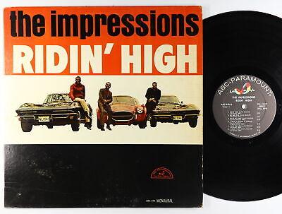 Impressions - Ridin' High LP - ABC-Paramount Mono Shrink