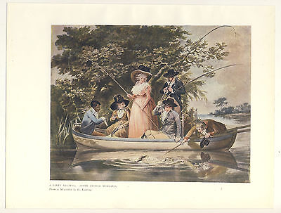A Party Angling After George Morland 1906 Colour Print