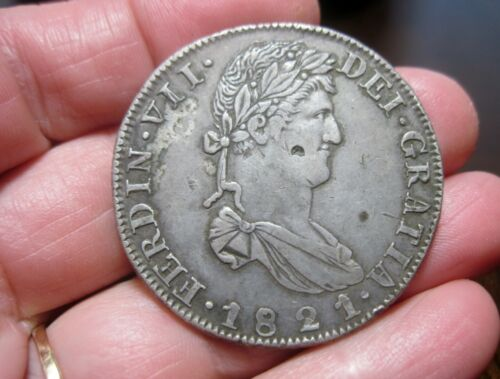 1821 AZ (MEXICO) 8 REALES (SILVER) WAR of INDEPENDENCE--rare--