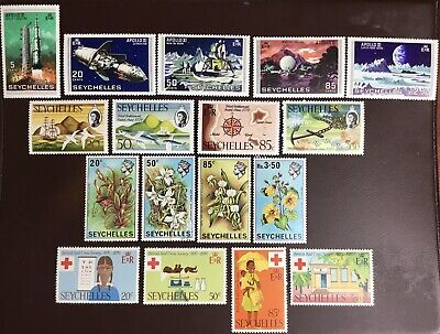 Seychelles 1969-70 4 Commemorative Sets Mostly MH