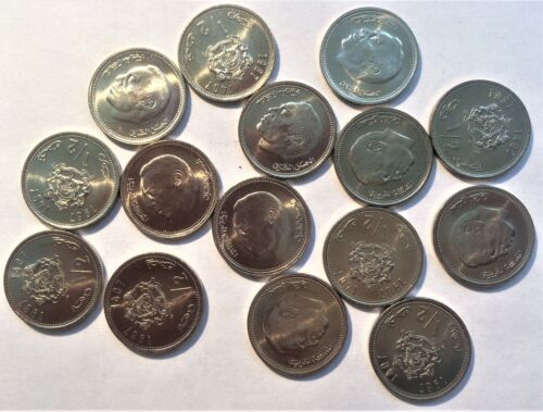 WHOLESALE - 50 (FIFTY) MOROCCO 1/2 DIRHAM COINS KM # 87 of 1987 ALL UNCIRCULATED
