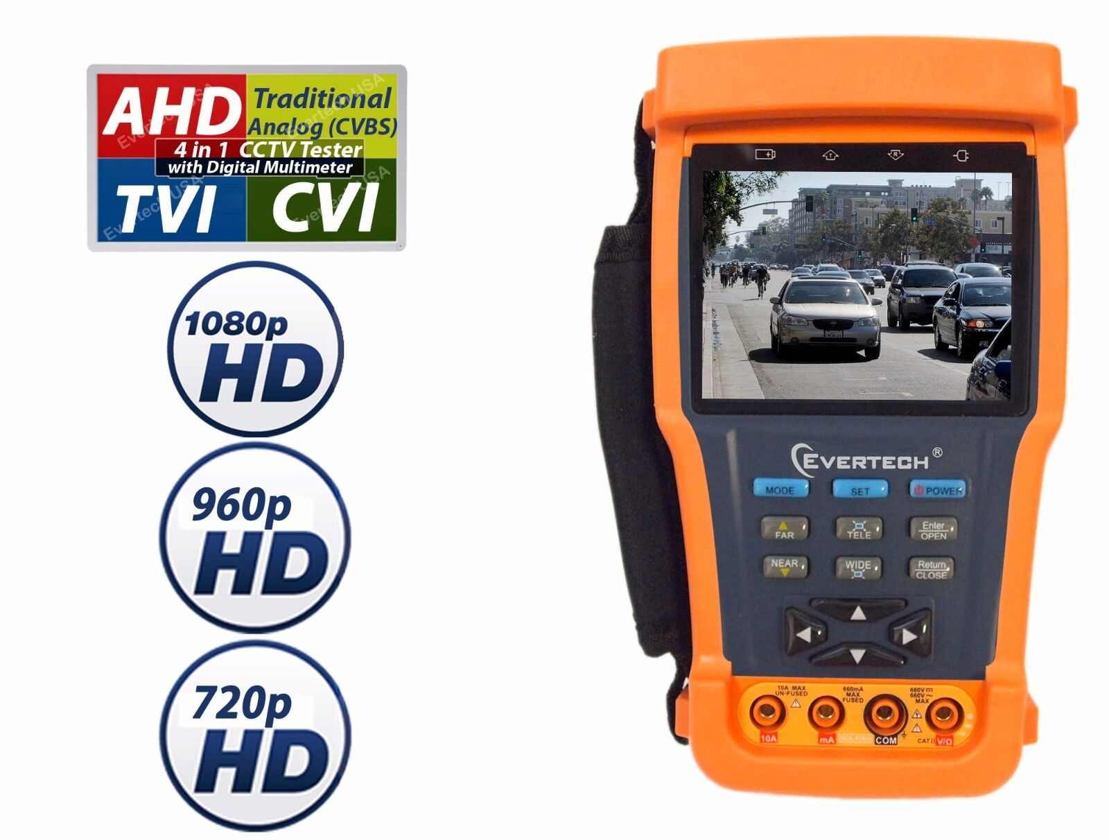 "Evertech Ahd Tvi Cvi Analog 4in1 3.5"" Lcd Ptz Security Ca..."