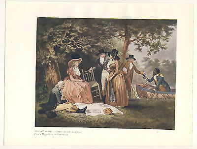 Anglers Repast After George Morland 1906 Colour Print