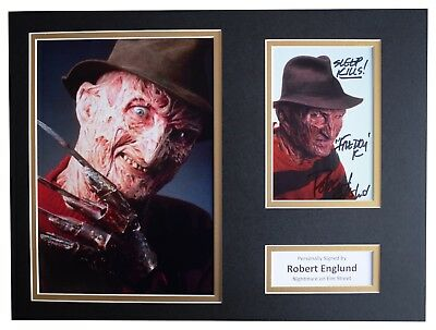 Robert Englund Signed autograph 16x12 photo display Nightmare on Elm Street COA