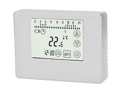 Thermostat programmierbar Touchscreen weiß Aufputz  Batteriebetrieb #769