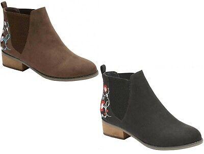 Ladies Dolcis Comfort Chelsea Women's Dealer Memory Foam Faux Suede Ankle Boots