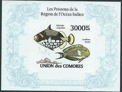 UNION des COMORES - 'FISH OF THE INDIAN OCEAN REGION' Imperf MNH  [A0810]