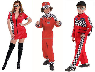 Sexy Race Girl Boxenluder Rennfahrerin Grid Kostüm Kleid Overall Rennfahrer - Sexy Rennfahrer Kostüm