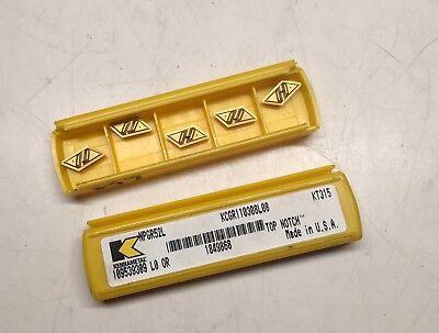 Kennametal Carbide Inserts - Npgr52l Kt315 - Qty. 5 - New