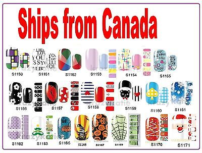 Melodi Authentic Nail Wrap Patch Self Adhesive Stickers 14pcs Canadian Seller ()
