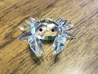 Swarovski Crystal Miniature Crab Figurine 7624, Retired, Mint, Box, Logo, COA