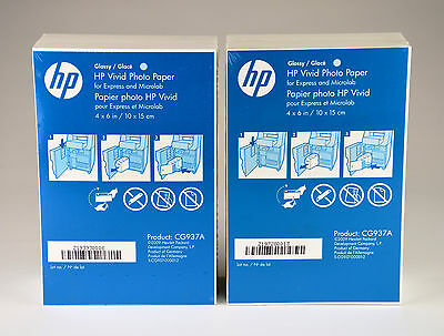 "NEW - HP Vivid Photo Paper 4"" x 6"" Glossy white CG937A 360 Sheets FREE SHIPPING"