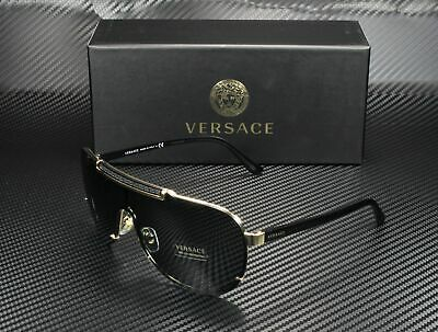 VERSACE VE2140 100287 Gold Gray 40 mm Men's Sunglasses