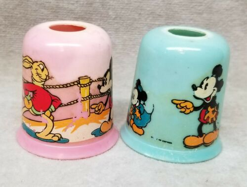 2 Vintage Mickey Mouse Christmas Light Covers.