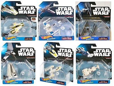 Hot Wheels Collectable Star Wars Die Cast Starships Series With Display Stands