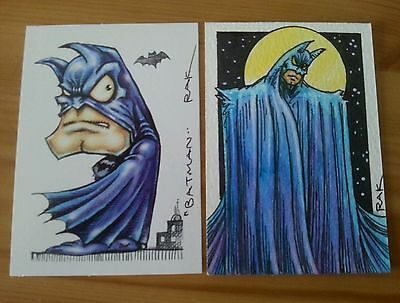 THE BATMAN HAND DRAWN COLOUR SKETCH CARD BY RAK DC COMICS