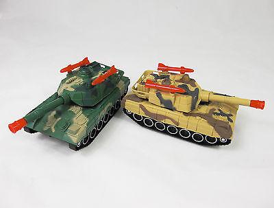 Panzer Tank Kettenfahrzeug LED + SOUND Motorbetrieben Fahrzeug Kinder Spielzeug