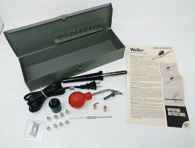 Weller Model Ds 40-3 Desoldering Resoldering Iron Hand Pump 120v 40w Tips