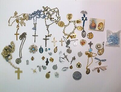 antique vintage jewelry pieces and parts..all need repair or have breakup value