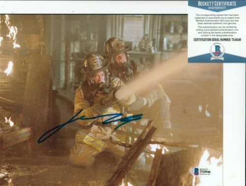 JOHN TRAVOLTA signed (LADDER 49) Captain Kennedy Movie 8X10  BECKETT BAS T54946