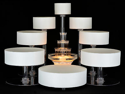8 TIER CASCADE WEDDING CAKE STAND CUPCAKE STAND (STYLE R800)