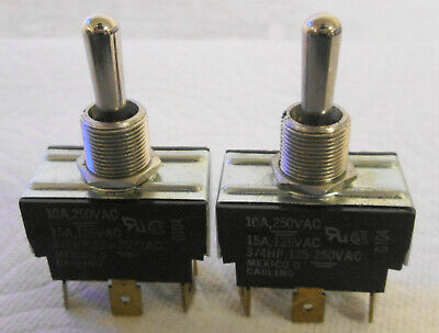 2 Carling 0104 Momentary Switch 10a 250vac 15a 125vac 34hp