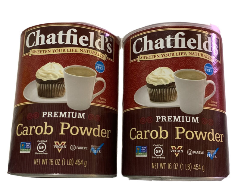 Chatfields All Natural Premium Carob Powder, 16 Ounce (Pack of 2)