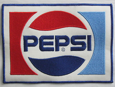 Patch Large Pepsi Cola Soda Pop 8 3/8 by 6 vintage New Old Stock NOS