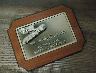 Vintage Dekalb Seed Corn 1966 - 1967 Award for Outstanding Sales Achievement NOS
