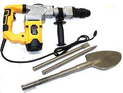 1300w Electric Sds-max Hammer Drill 4000bpm Demolition Wshovel Chisel Bits